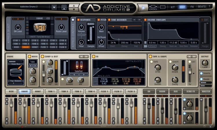 Addictive Drums 2 is one of the best paid drum hip hop vst plugin that is really expensive but worth the price