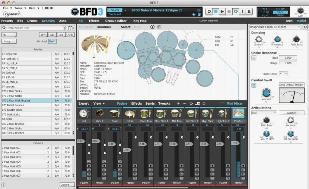 FXpansion BFD3 is the best paid drum hip hop vst plugin with tons of cool settings