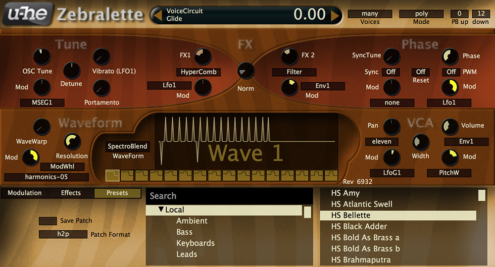 u-he Zebralette is one of the best free synth vst instruments for hip hop