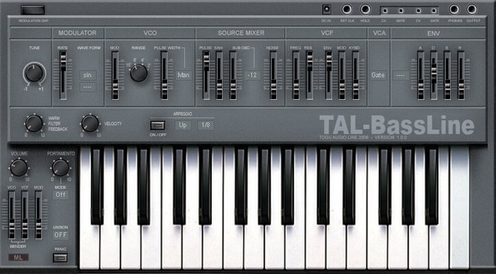 TAL Bassline free vst synth for music producers