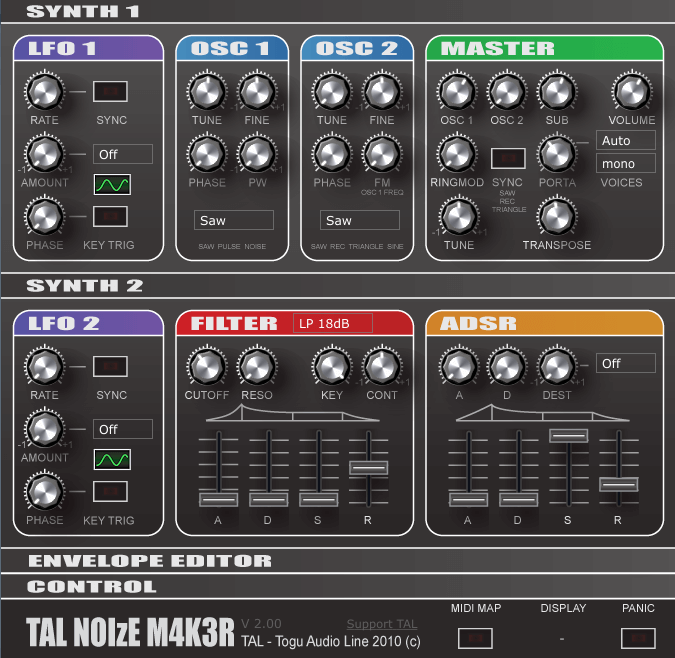 TAL NoiseMaker free vst synth for music producers