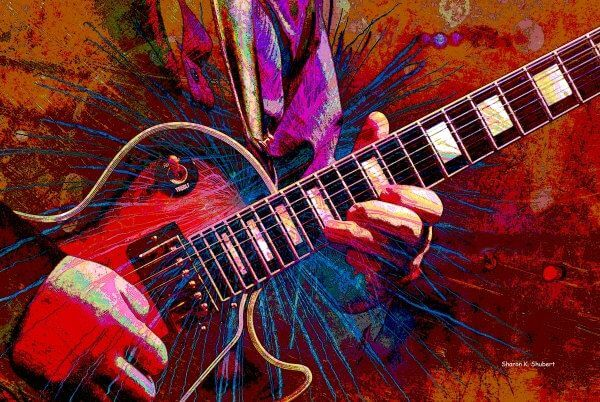 pick an electric guitar when you learn how to write rock song