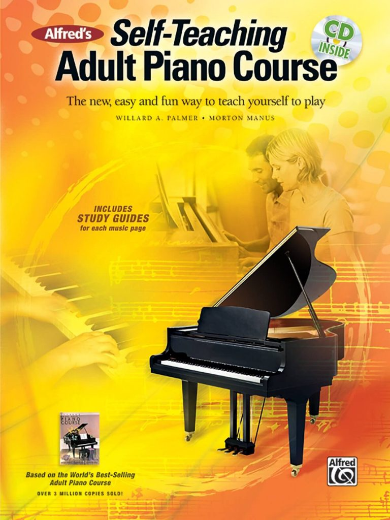 Alfred's Self-Teaching Adult Piano Course is one of the best piano books for beginners