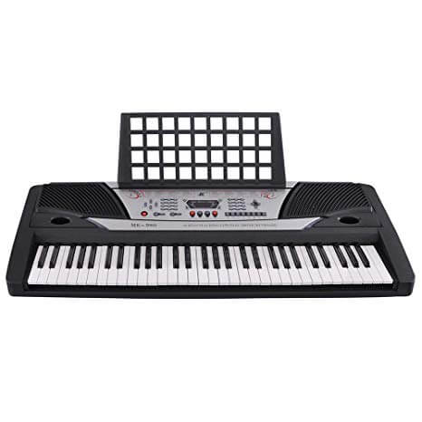 Black 61 Key LCD Display Electronic Keyboard