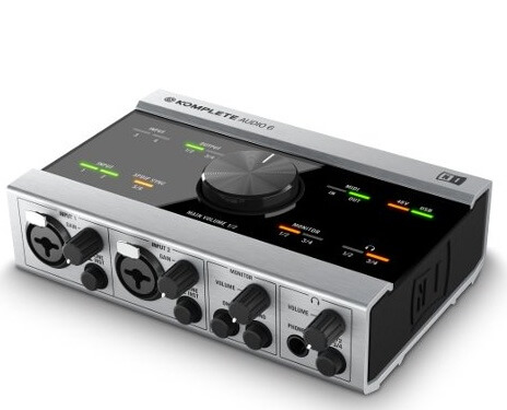 NI Komplete Audio 6 - No-Latency Sound Card For Digital Music Production