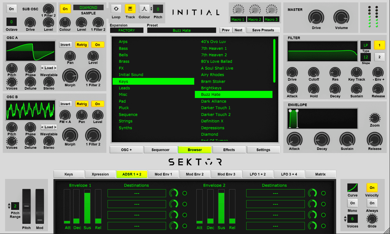 Initial Audio Sektor review - best trap vst for logic pro x and pro tools