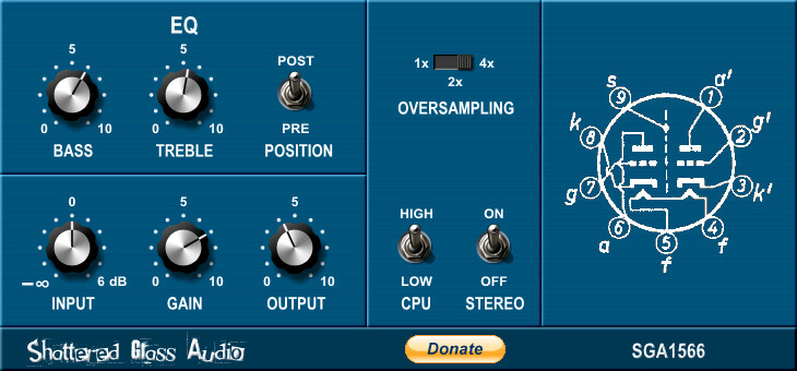 Shattered Glass Audio SGA1566 review - distortion plugin free