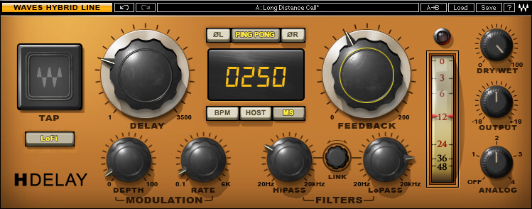 Waves H-Delay Hybrid Delay review - best delay for windows and mac