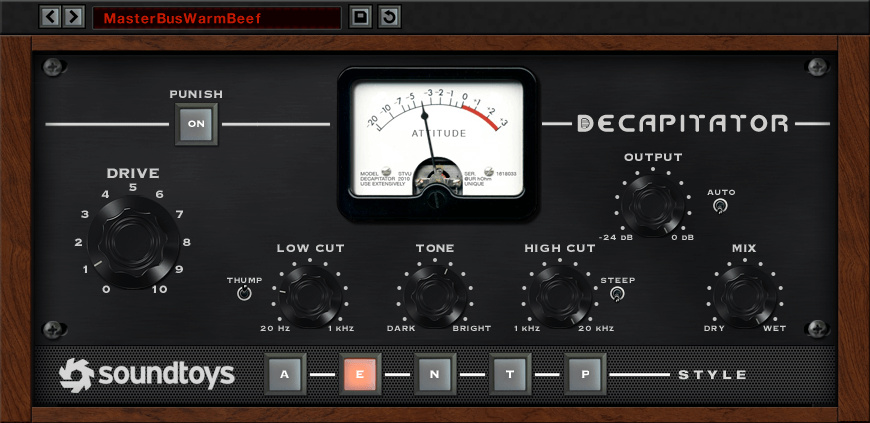 Decapitator by Soundtoys - best fl studio distortion vst plugin for windows and mac