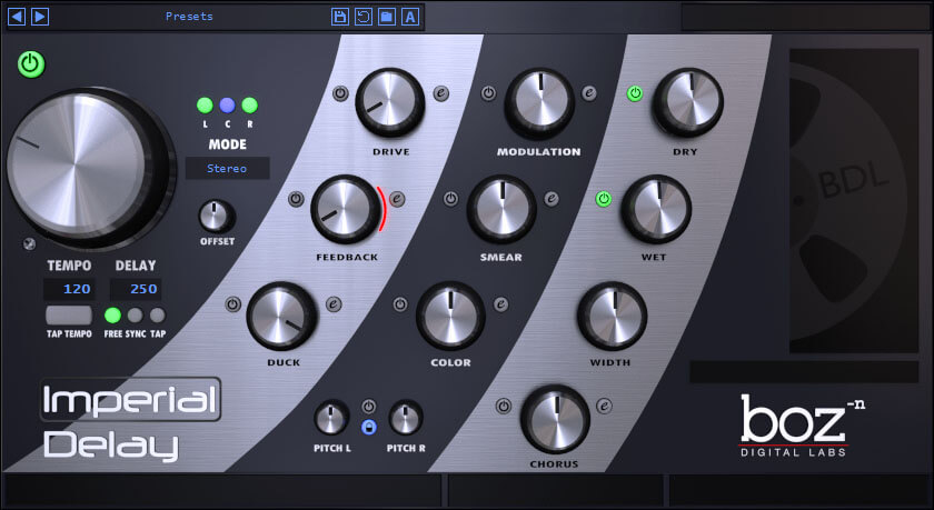 Imperial Delay by Boz Digital Labs - best fl studio delay vst plugin for windows and mac