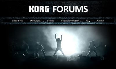 Korg forum for guitar and piano players, music producers