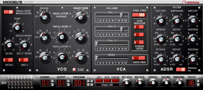 MODEL E free analog synth vst plugin review