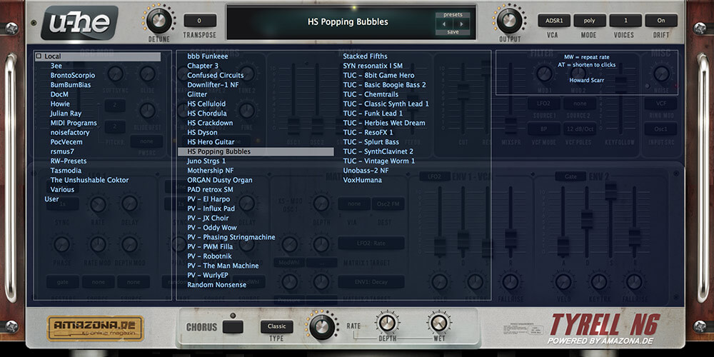 TYRELLN6 compact synth free bass generator review