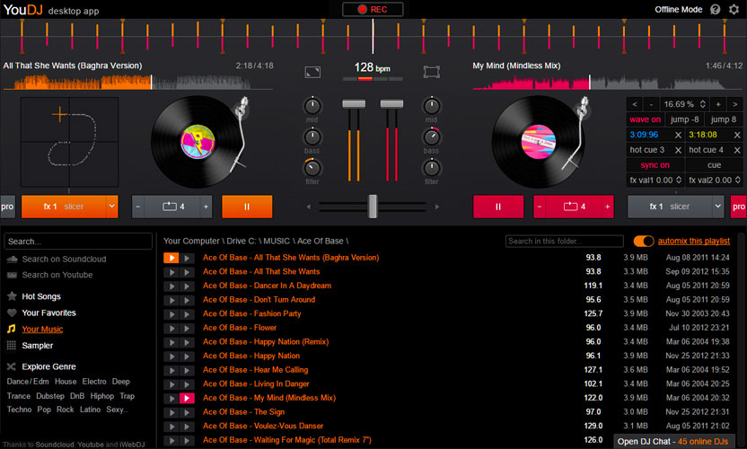 you.dj free dj app for iphone android computer
