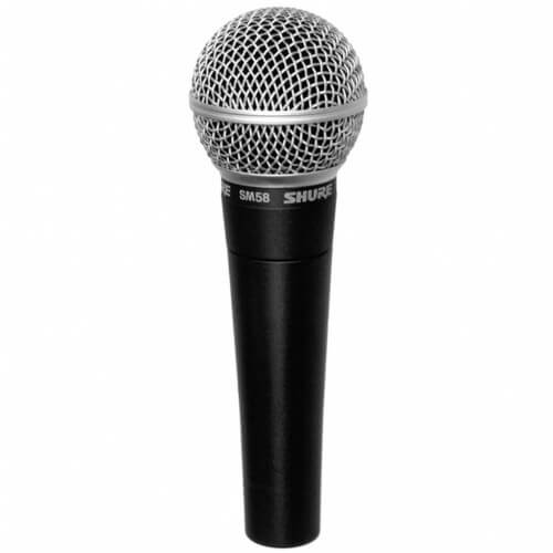 Shure SM58 - most popular top streaming dynamic microphone