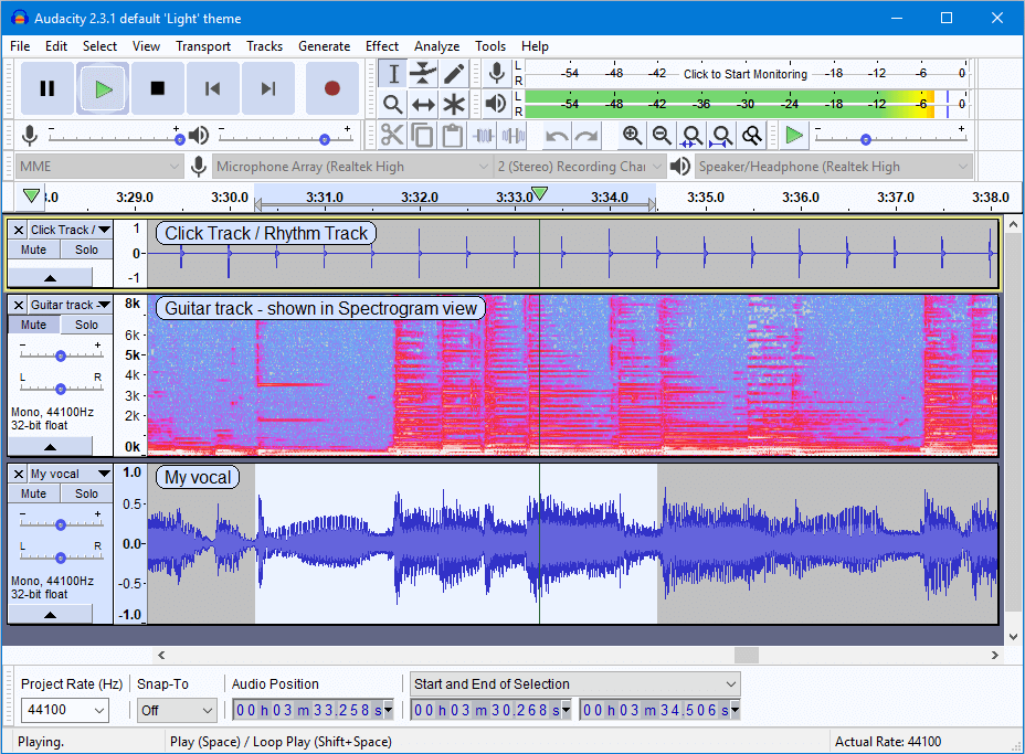 Audacity - free music making apps for vocals, drums, instruments