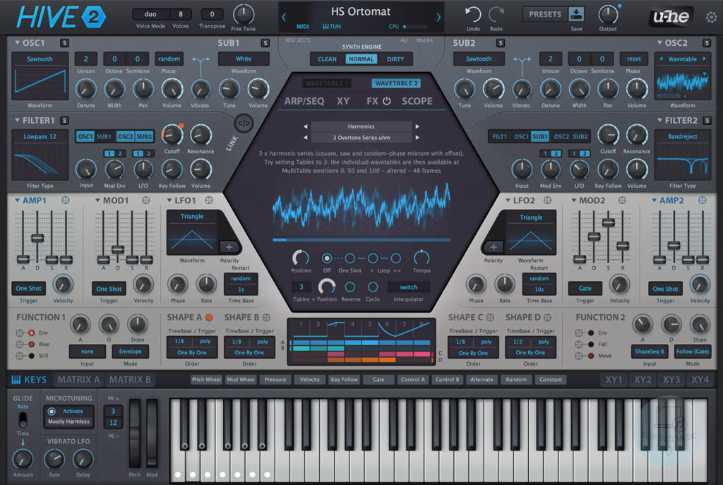 Hive (U-he) - budget cheap affordable synth rompler vst plugin but, unfortunately, not free