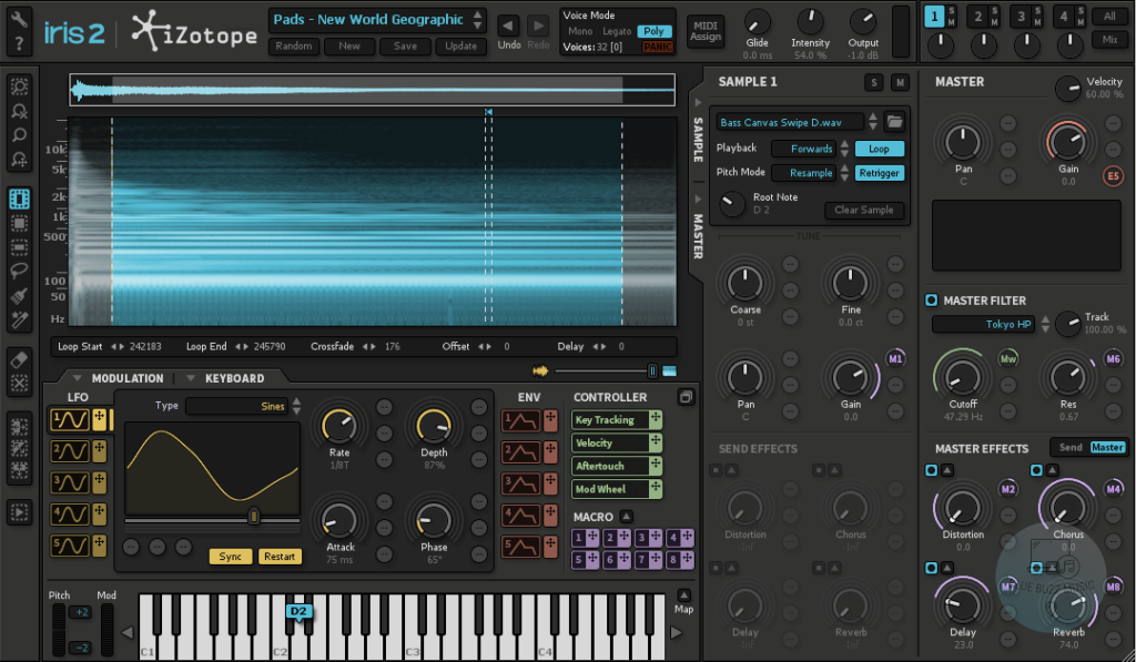 Iris 2 (iZotope) - best izotope synth rompler vst plugin for beginners