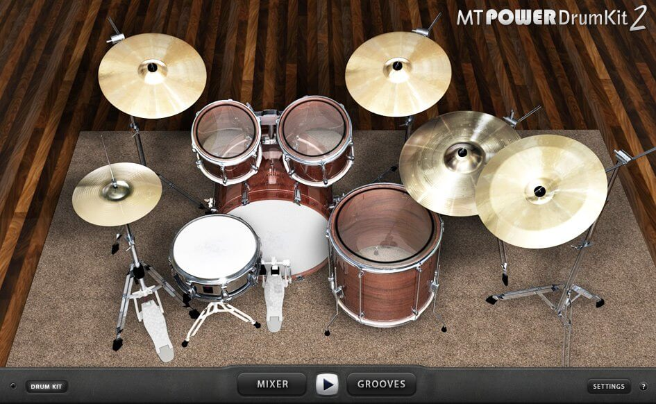 MT Power DrumKit 2 - best free drum vst plugin with free acoustic drum samples and loops