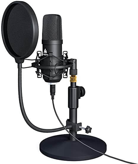 Maono Studio USB Microphone Kit - cheap beginner mic plug and play for gaming recording and streaming