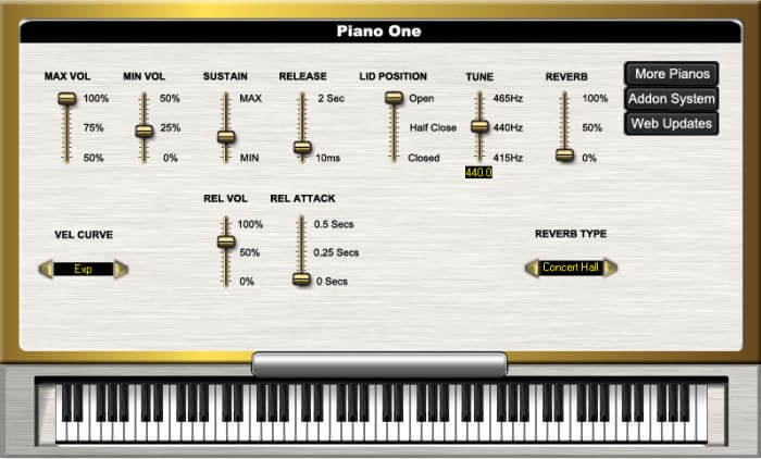 Piano One - top best free virtual instrument vst effects synth piano