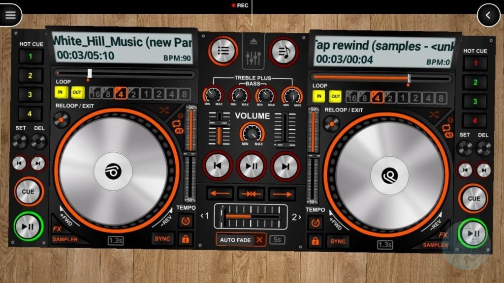 DiscDJ 3D Music Player - android app to learn how to dj and mix for android free