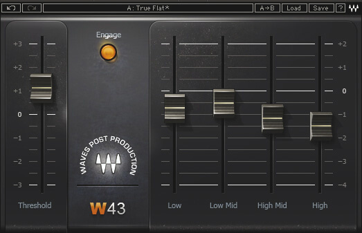 Waves W43  - professional noice reduction audio vst plugin for daw digital audio workstation