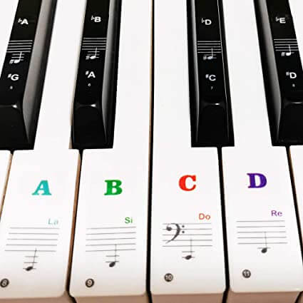 Yalloy Reusable Piano Stickers - best reusable colored piano stickers cheap budget affordable