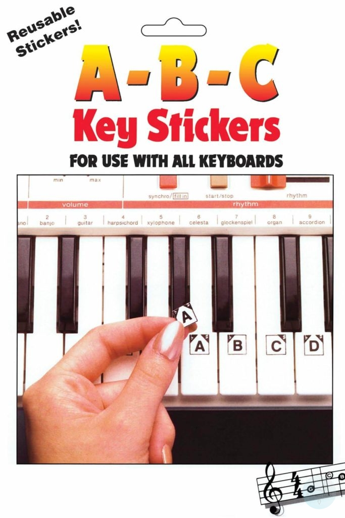 abc piano key stickers best for grand piano and keyboard