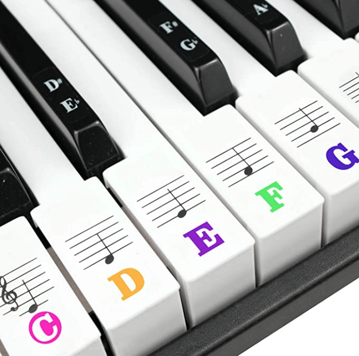 maya piano key stickers - best, cheap, affordable, budget, colored, reusable, water resistant,