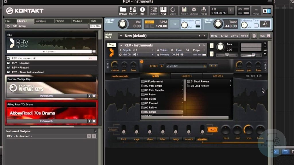Rev by Output - best pad vst instruments plugins with loops, rises, pulses, pads, etc