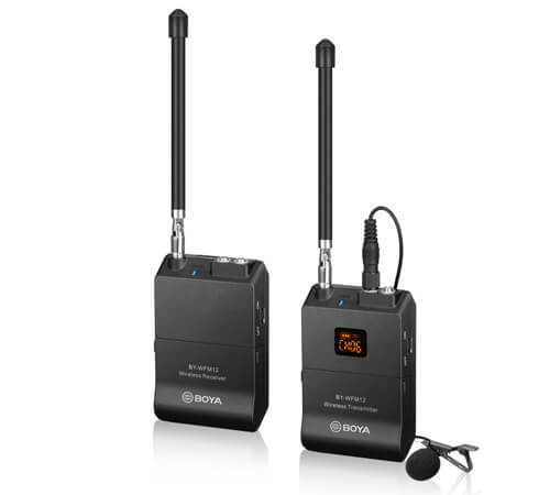Boya BY-MFM12 - best budget cheap affordable wireless lavalier mic for video cameras and dslrs