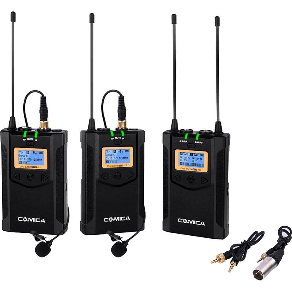 Comica CVM-WM100 Dual Wireless System - best wireless microphone for iphone and android cameras