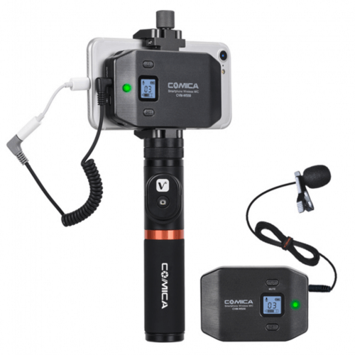 Comica CVM-WS50 Wireless - best wireless bluetooth micropohne setup for iphone and ipad