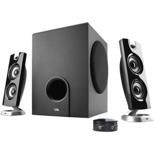 Cyber Acoustics CA-3602FFP - best cheap budget affordable and audiophile computer speakers for listening to music