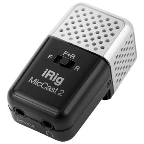 IK Multimedia iRig Mic Cast 2 - best portable condenser microphone for iphone and ipad