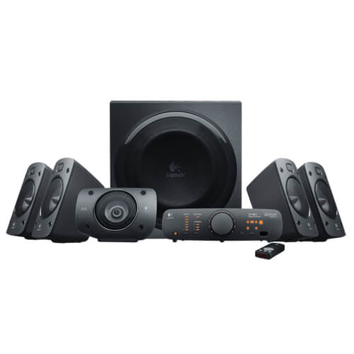 Logitech Z906 - best powered computer speakers for audiophile music