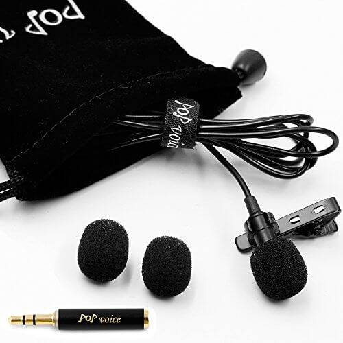 PoP Voice Professional Lavalier Microphone - best cheap microphone for iphone and android phones
