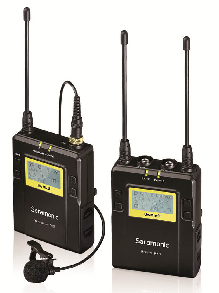 Saramonic UWMIC9 - best professional wireless lavalier mic system for vlogging and filming