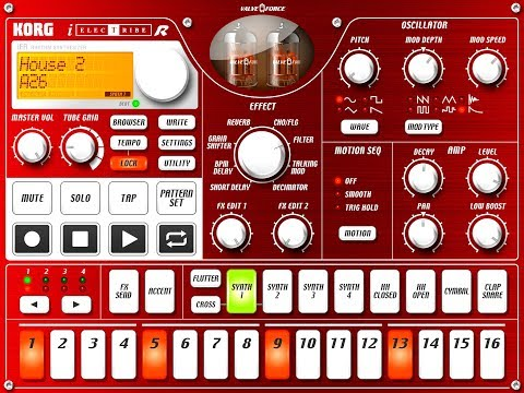 Korg iElectribe - best cheap budget affordable mobile beatmaking app for producers and djs