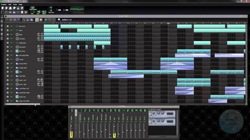LMMS - top best free beat making software to start making music on your computer