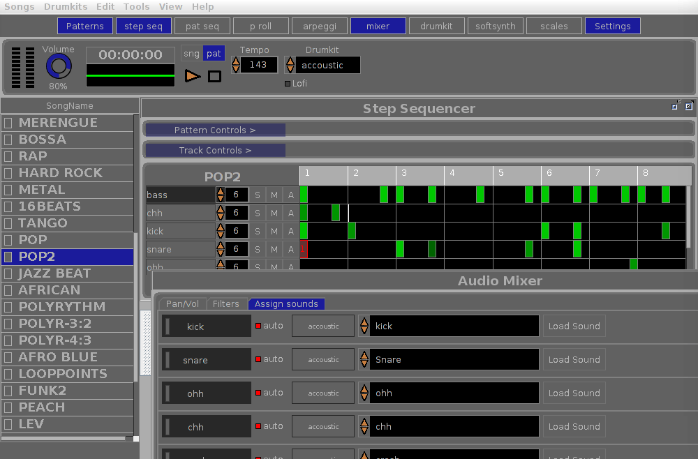 OrDrumBox - best free software application for making beats on your own