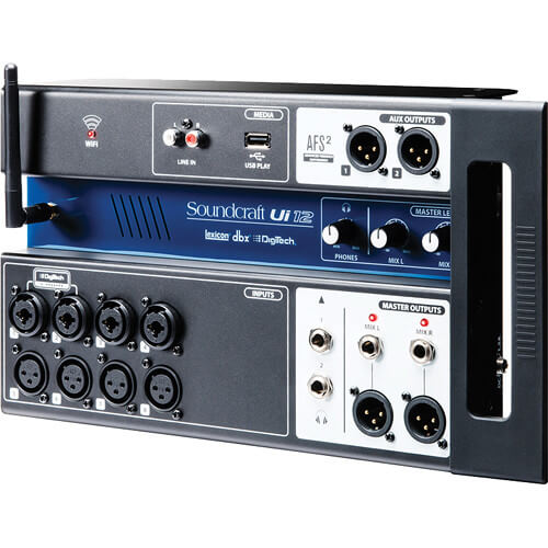 Soundcraft Ui12 - best wireless table controlled mixers for live shows