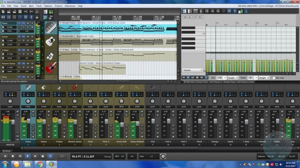 is reaper the best daw for orchestral music