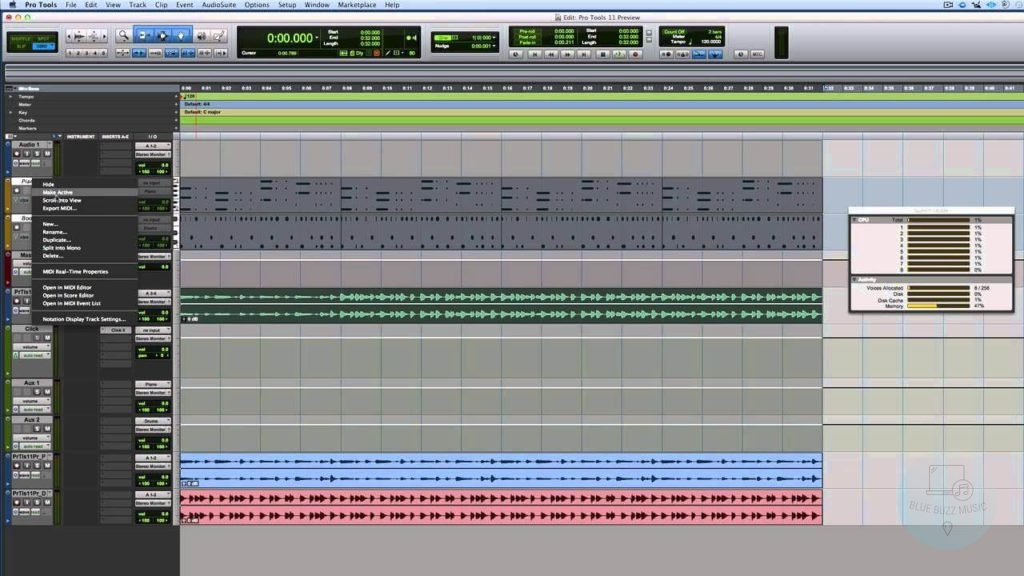 Pro Tools - best daw for professional musicians and djs for recording