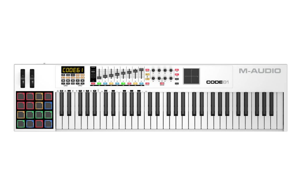 M-Audio Code 61 midi keyboard for beginners is a good choice