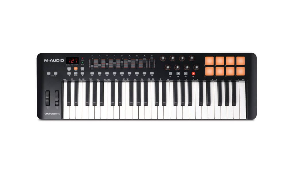 M-Audio Oxygen 49 MKIV midi keyboard for beginners is a good choice