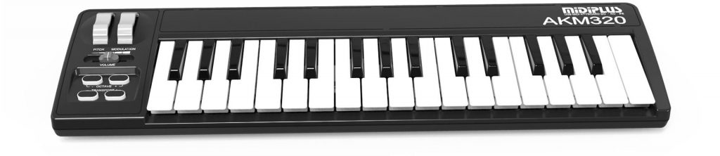 Midiplus AKM320 midi keyboard for beginners is a good choice