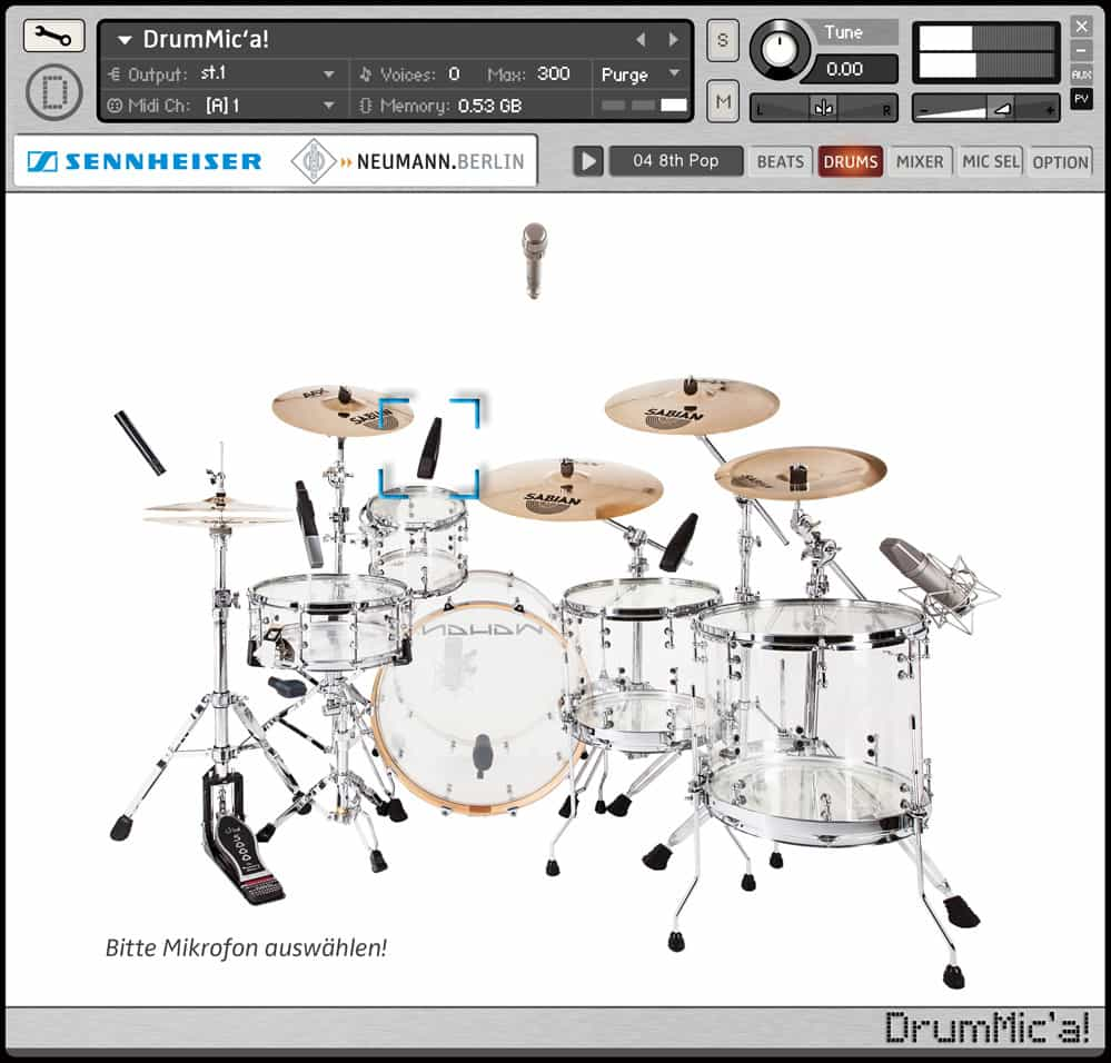 Sennheiser DrumMic'a is one of the best free drum vsts for hip hop when it comes