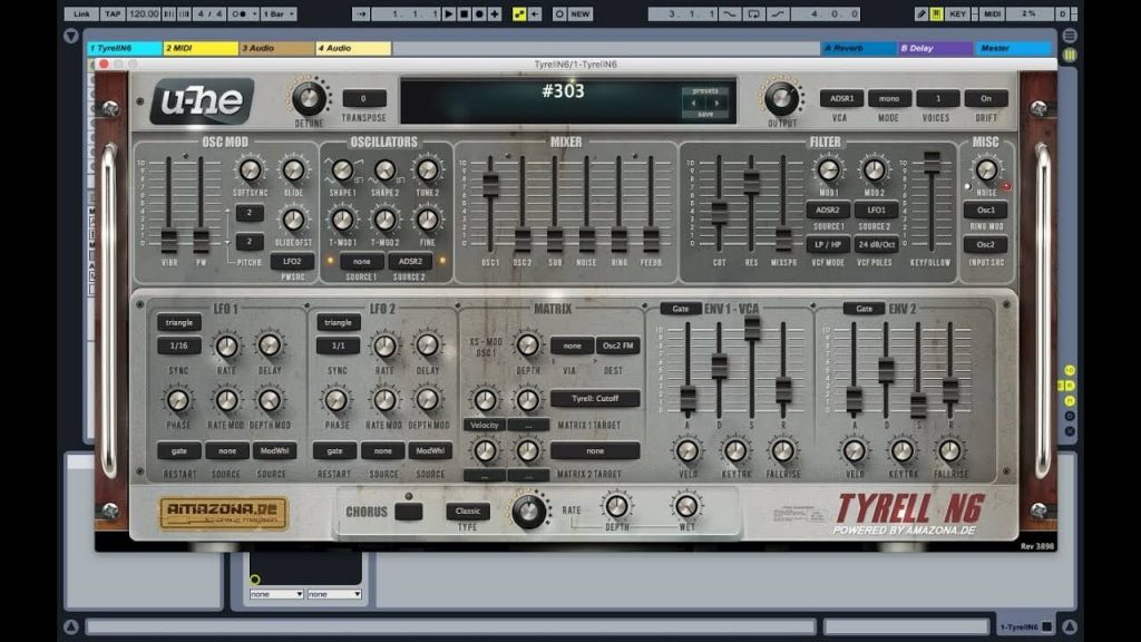 u-he Tyrell N6 free vst synth for music producers
